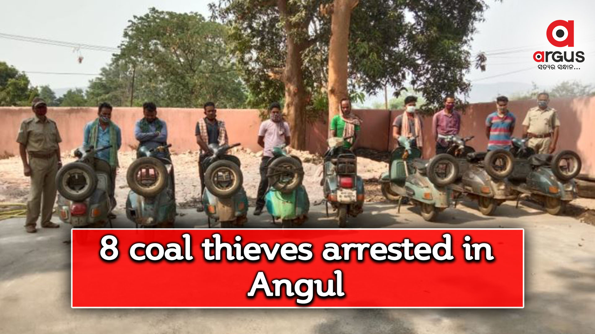 Eight arrested for coal theft in Angul