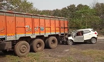 1 killed, 5 critical as car hits truck in Sambalpur