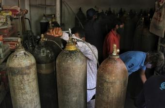 Demand for oxygen rising in Nepal as Covid cases surge