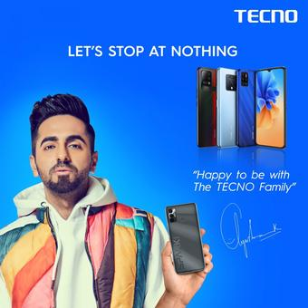 Ayushmann Khurrana roped in as TECNO's India brand ambassador for 2021
