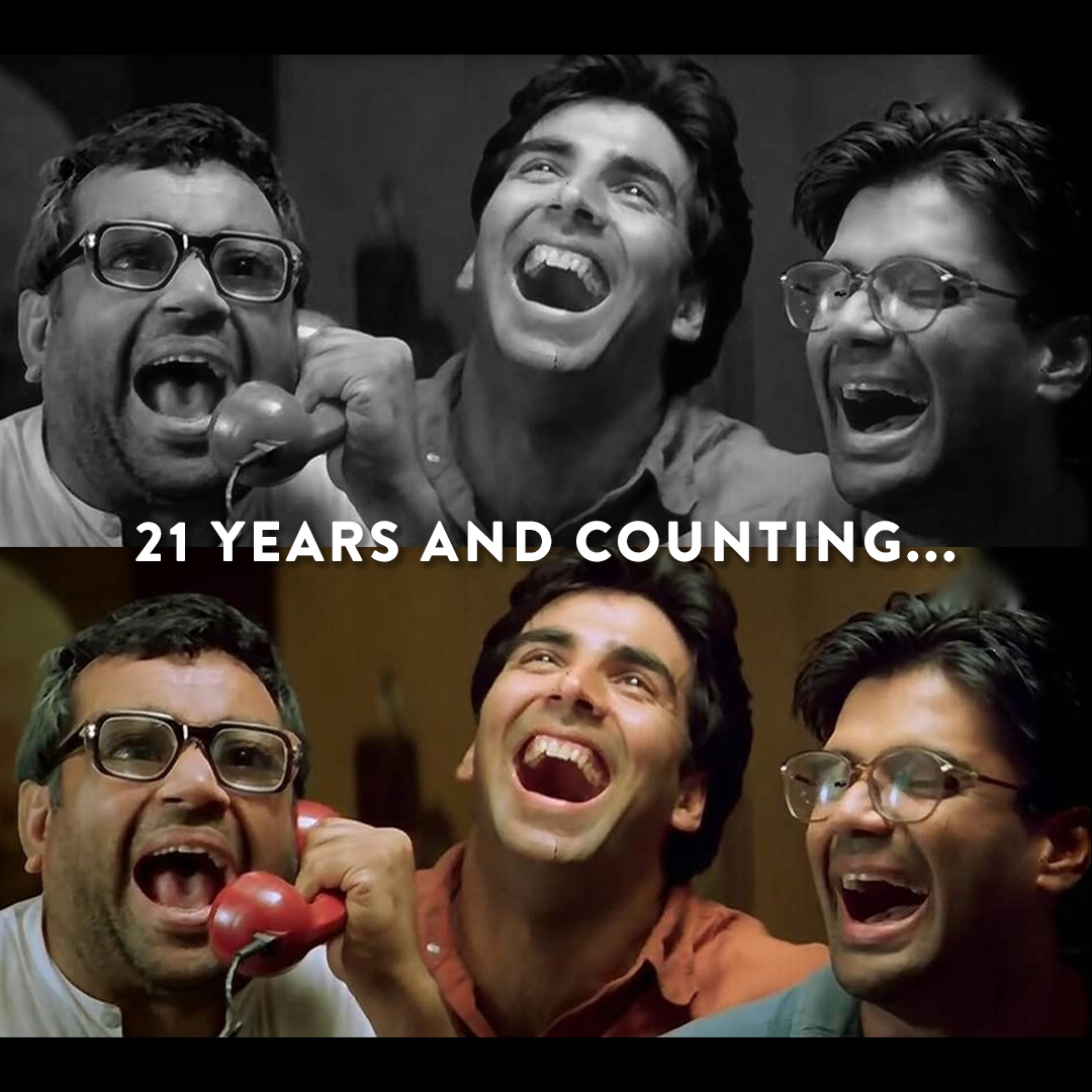 Akshay, Suniel, Gulshan nostalgic as 'Hera Pheri' turns 21