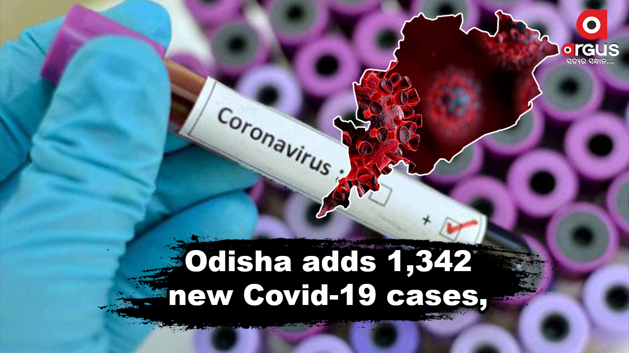 Odisha reports 1,342 new Covid-19 cases, Active cases stand at 13,516