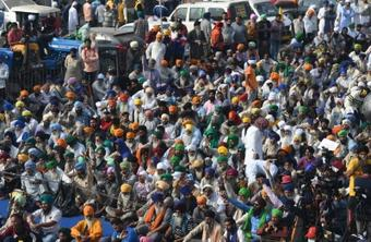 Farmers' protest continues for 18th day