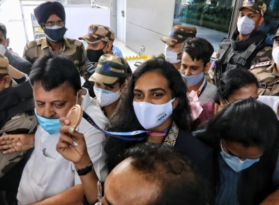 Sindhu accorded warm welcome on arrival in Delhi