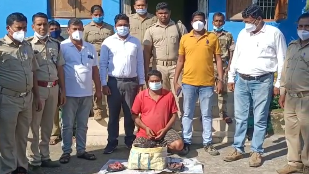 25 kg venison seized from house in Boudh, 1 held
