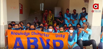 ABVP protests infra unavailability, irregularities in UU new campus