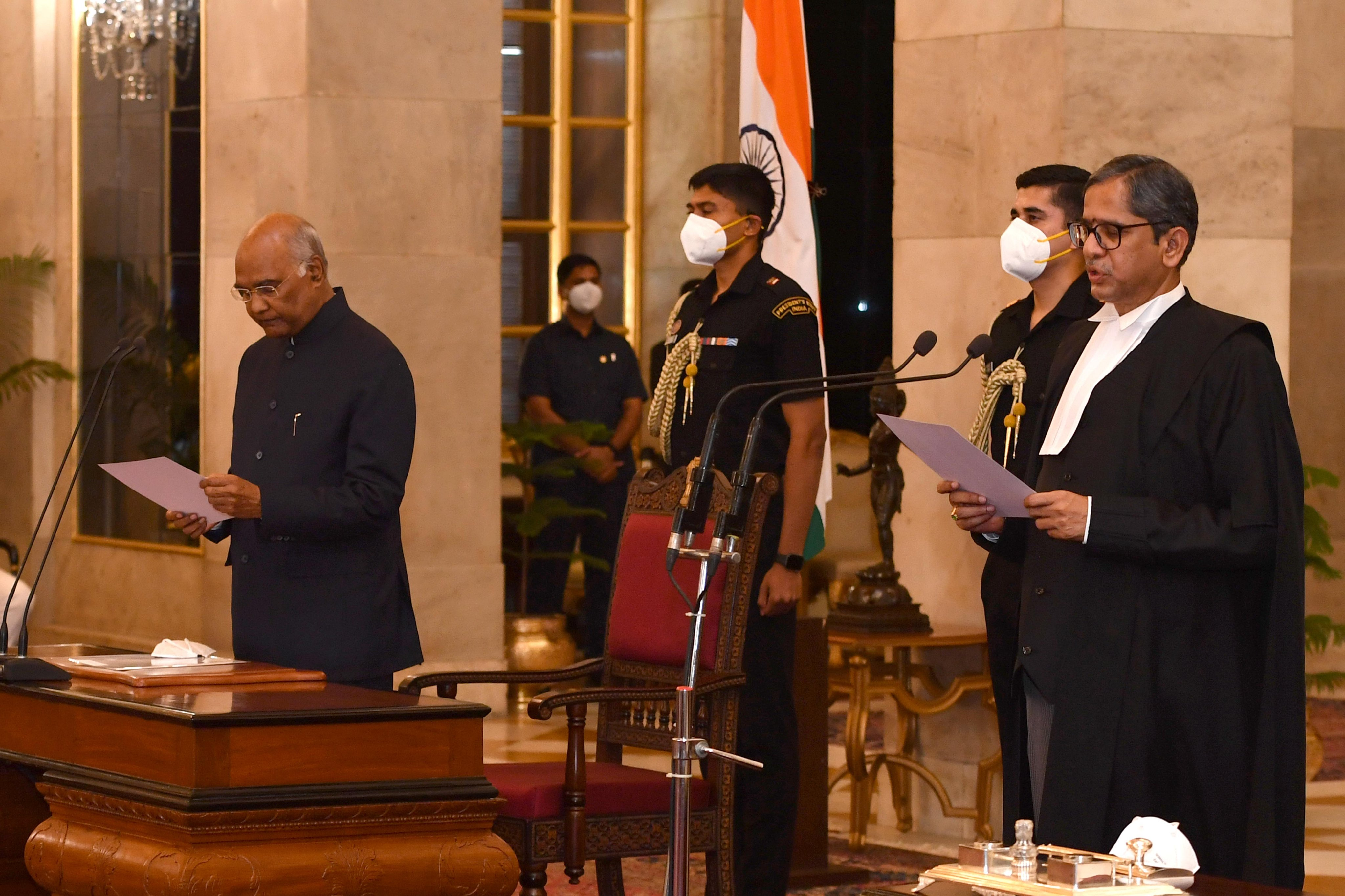 Justice NV Ramana sworn-in as new Chief Justice of India