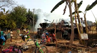 Fire mishap in Angul: 2 injured, properties worth lakhs gutted