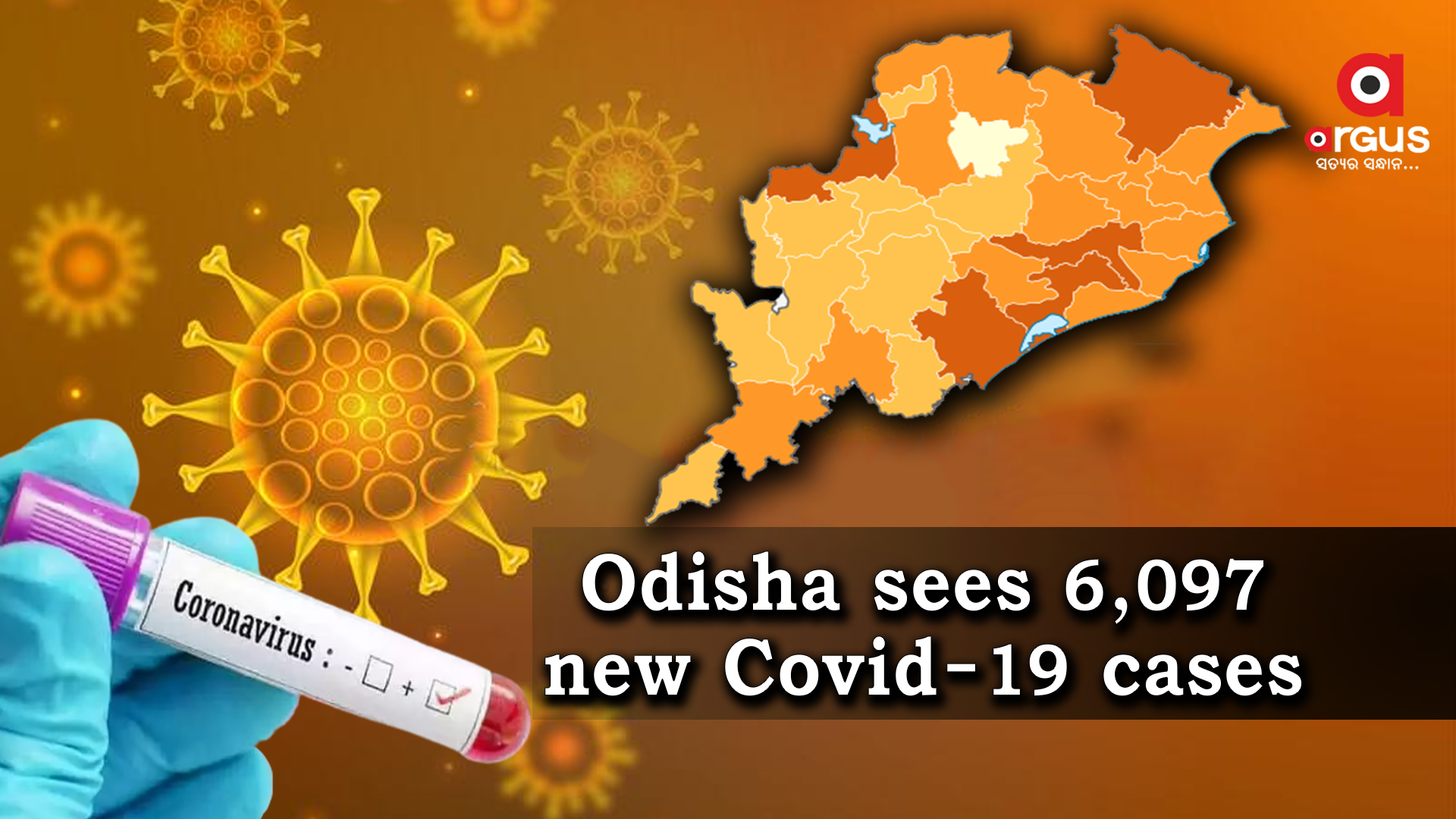 Odisha reports 6,097 new Covid-19 cases in last 24 hours