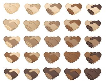 Google launching handshake emoji with 25 skin tone options