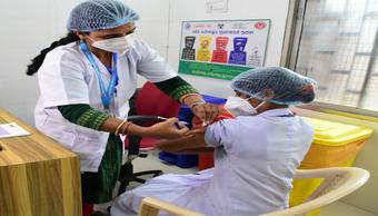 18-44 yr age-group vaccination trial in Odisha today