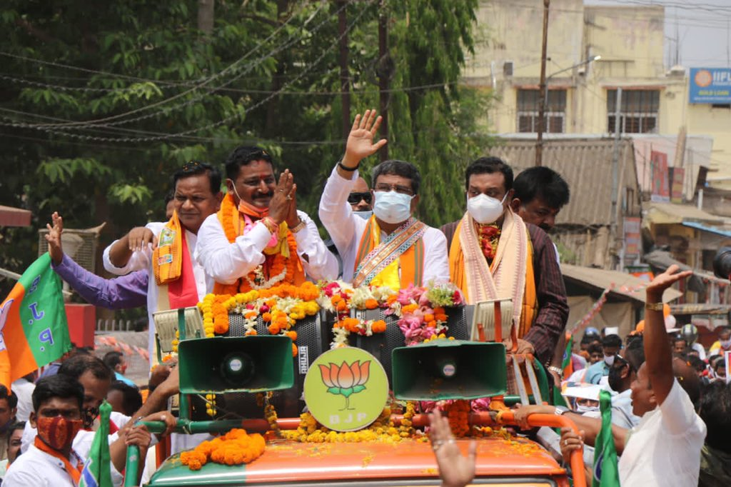 Pradhan hits campaign trail for Pipili by-election