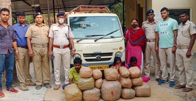 3 ganja peddlers including 2 women arrested in Bhubaneswar
