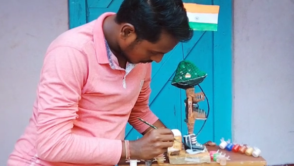 Puri youth sculpts art out of scrap to pay tribute to Pulwama martyrs