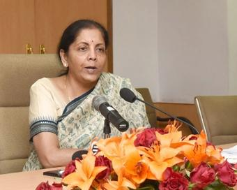 FM reviews implementation of AatmaNirbhar Bharat package with secys
