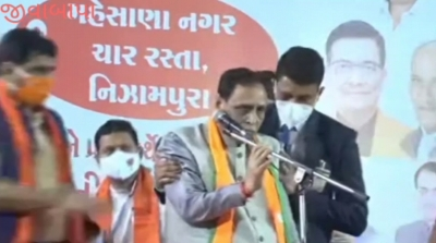 Gujarat CM collapses at rally, in hospital for observation