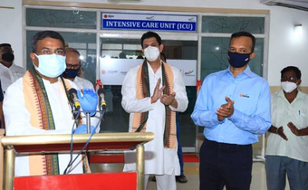 Pradhan dedicates 270-bedded Oxygenated COVID Care Centre at Angul JSPL