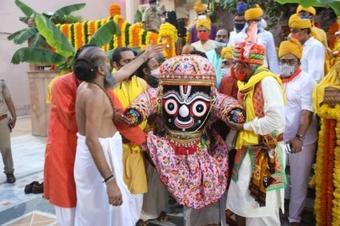 Rath Yatra taken out in Ahmedabad with limited participation