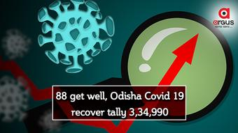 88 get well, Odisha Covid 19 recover tally 3,34,990