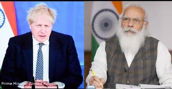 PM Modi holds virtual Summit with British PM Boris Johnson