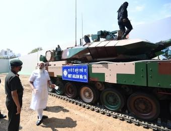 Modi hands over battle tank Arjun Mark 1A to Army