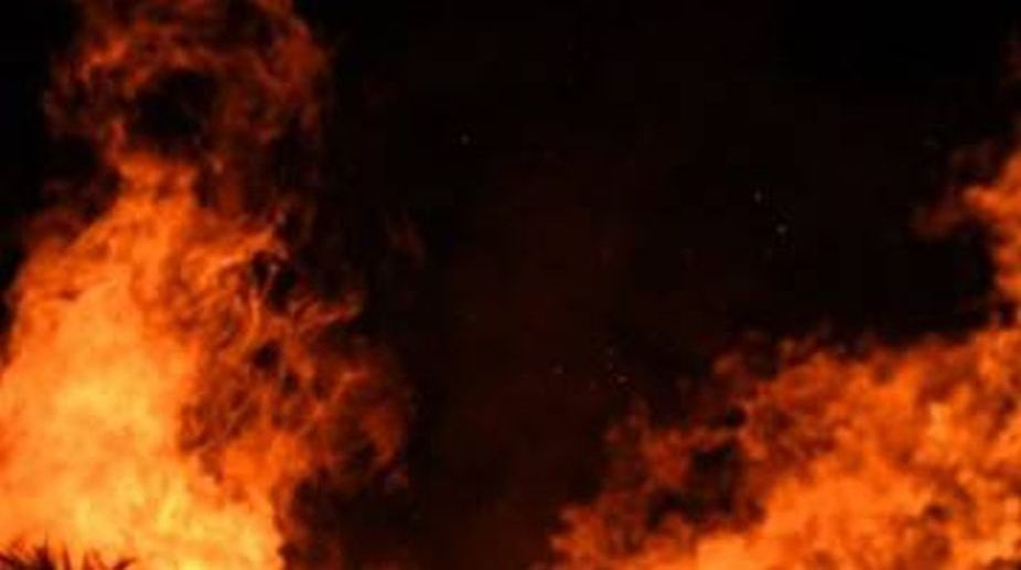 LPG cylinder leakage reduces shop to ashes in Subarnapur