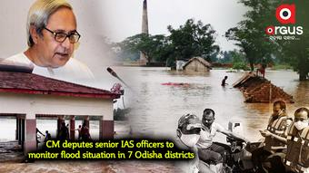 CM deputes senior IAS officers to monitor flood situation in 7 Odisha districts