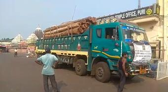 45 More Logs Arrive In Puri For Chariot Construction