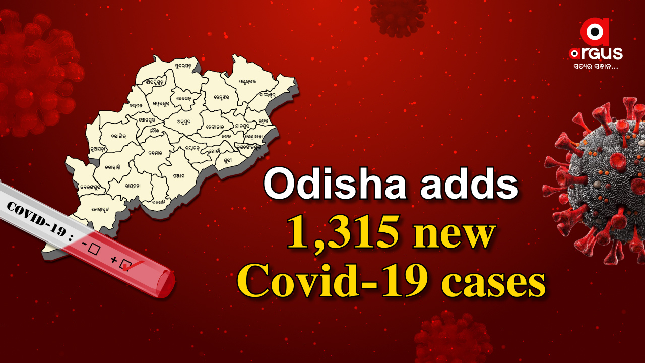 Odisha reports 1,315 new Covid-19 cases, Active cases stand at 13,872