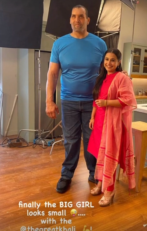 'Big girl' Vidya Balan poses with The Great Khali
