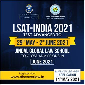 LSAT India 2021 online entrance advanced to May 29