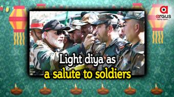 PM urges to light Diya this Diwali as a salute to Soldiers