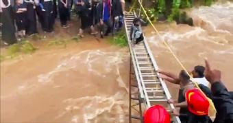 Maha cops rescue 116 revelers stranded on hill after heavy rains