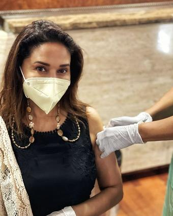 Madhuri Dixit gets her second jab of Covid vax
