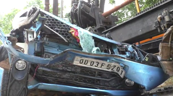 1 killed, another critical after car hits stationary vehicle in Subarnapur