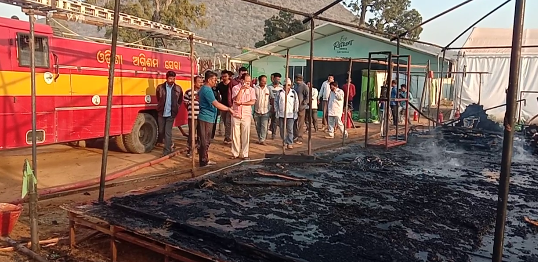 Fire breaks out at Satkosia Eco Retreat site, 3 cottages gutted