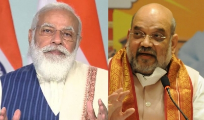 Shah meets Modi ahead of all party meet, discusses security in J&K
