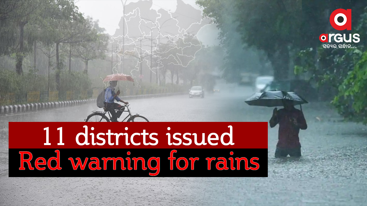 11 districts issued red warning for rains