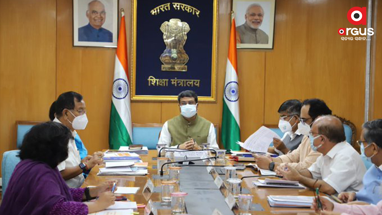 Pradhan reviews progress on implementing of NEP
