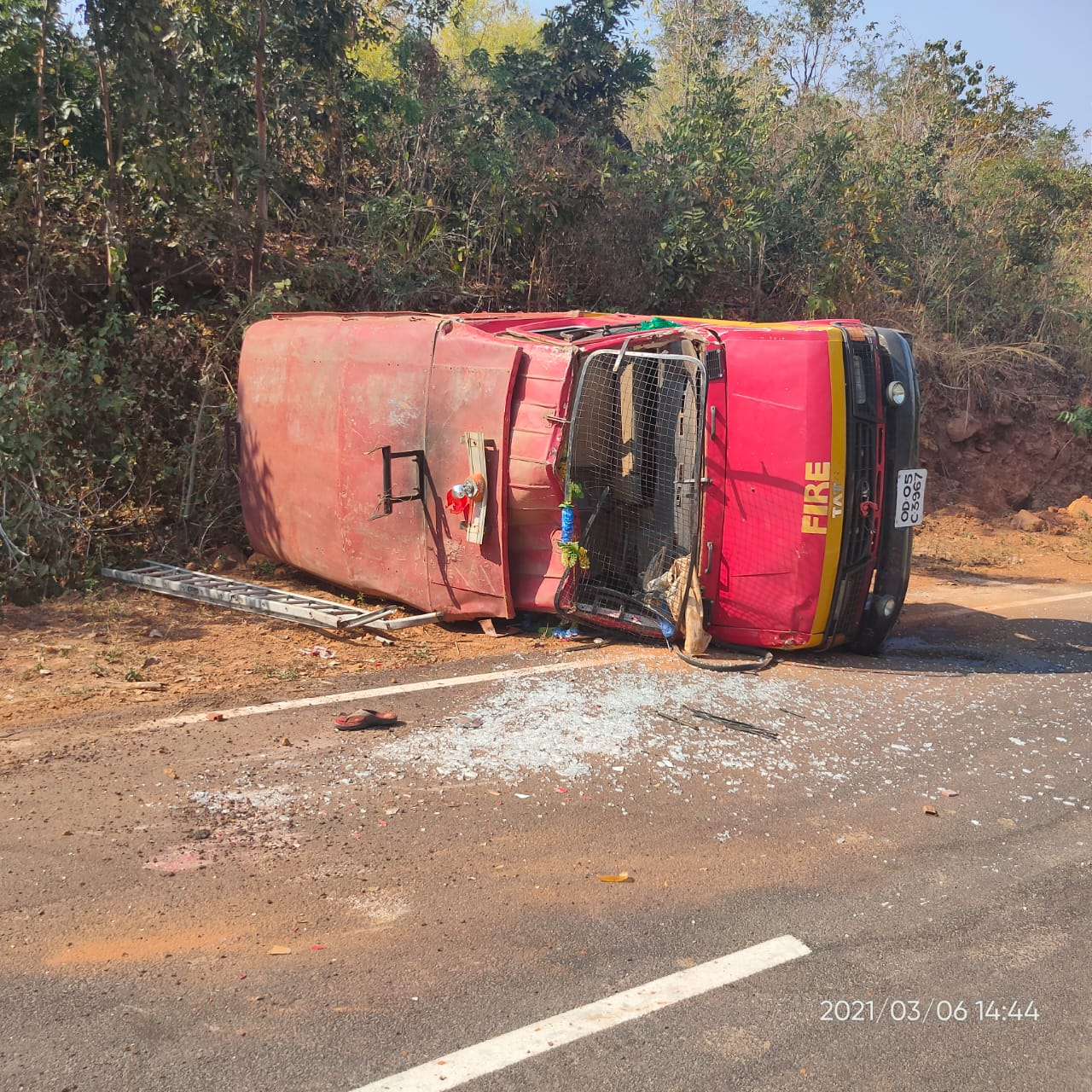 Fire Brigade van overturns in Malkangiri; 4 hurt, 1 critical