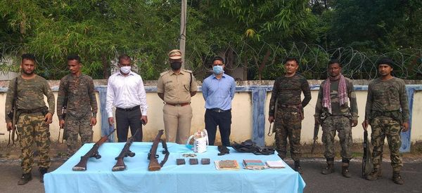 Huge cache of arms, ammunition seized from Maoist hideouts in Malkangiri