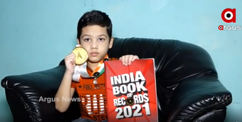 Bolangir kid Shreyansh grabs title in India Book of Records
