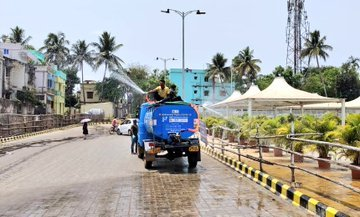 Lingaraj Temple, Rath Road in city sanitized