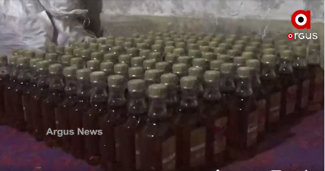 Illegal foreign liquor making unit busted near excise office in Mayurbhanj
