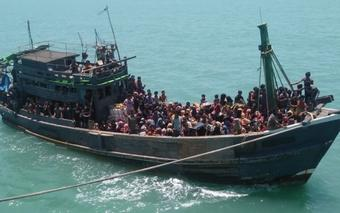 'Indian Coast Guards feeding stranded Rohingyas on high seas'
