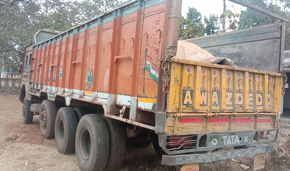 Illegal iron-ore laden truck seized in Mayurbhanj, 2 held