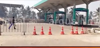 Panic as fire breaks out near petrol pump at Phulnakhara