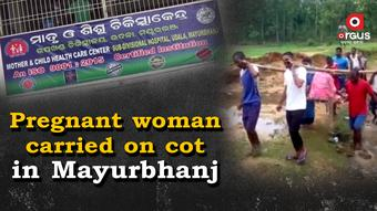 Pregnant woman carried on cot for 2 km in Mayurbhanj