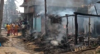 8 houses gutted, properties worth lakhs lost in Ganjam village fire