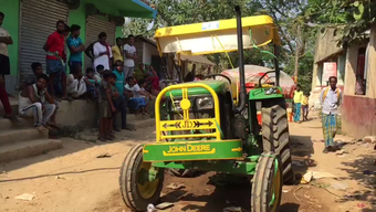 Woman killed, 2 others critical in sand-laden tractor accident